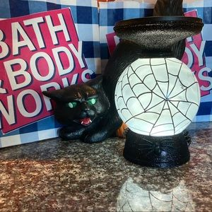 Bath and body works globe Halloween candle holder